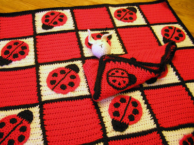 Free Crochet Ladybug Blanket Pattern : LADYBUG BLANKET CROTCHET PATTERN 1000 Free Patterns