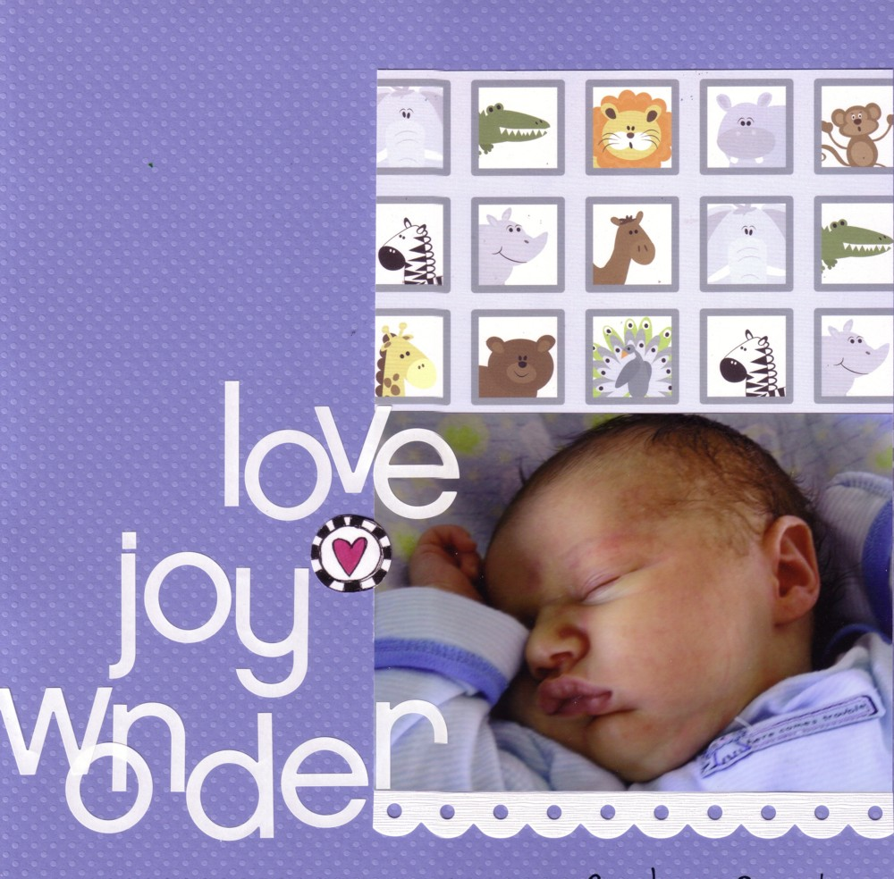 Paper Pals Design Team New Baby Boy Layouts