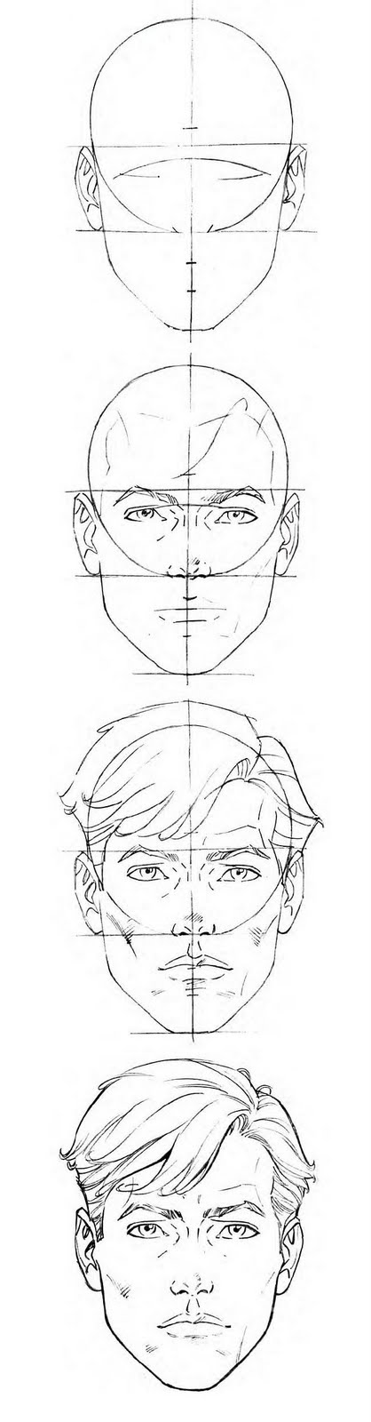 Female Head proportions template\/reference \/\/ follow me on - reference sheet examples