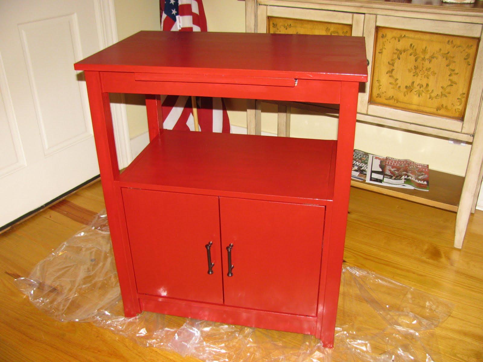 Red Microwave Cart Bestmicrowave