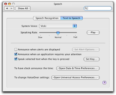 CrassPip: Mac OS X Speech Synthesis