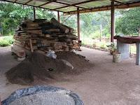 pile of reclaimed wood
