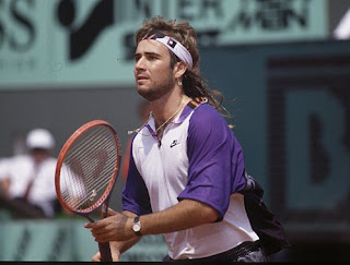 e9fccf62ca Men With Long Hair: Wimbledon Past: Andre Agassi