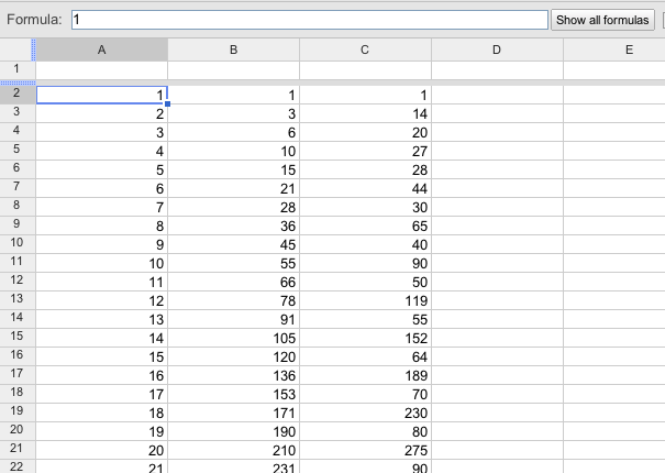 Google Drive Blog: Show all formulas in your spreadsheets