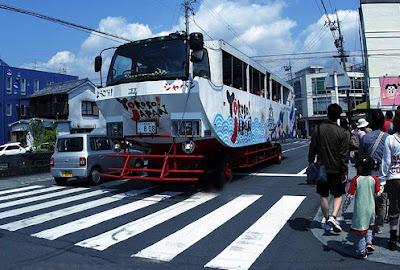 你看過水陸兩棲的公車嗎?