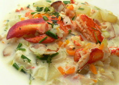 Lobster and Corn Chowder from Terry at Seduction Meals blog