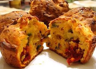 Savoury Muffins with Sun-dried Tomatoes and Cottage Cheese from Mansi at Fun and Food blog