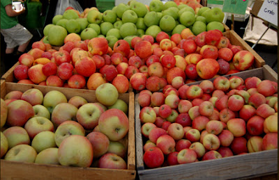 Photo of goods at one of the orchards' stands