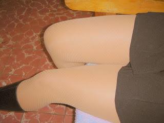 Visto pantimedias piernas cubiertas
