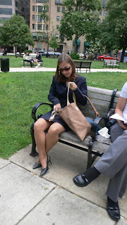 Pantyhose in the park