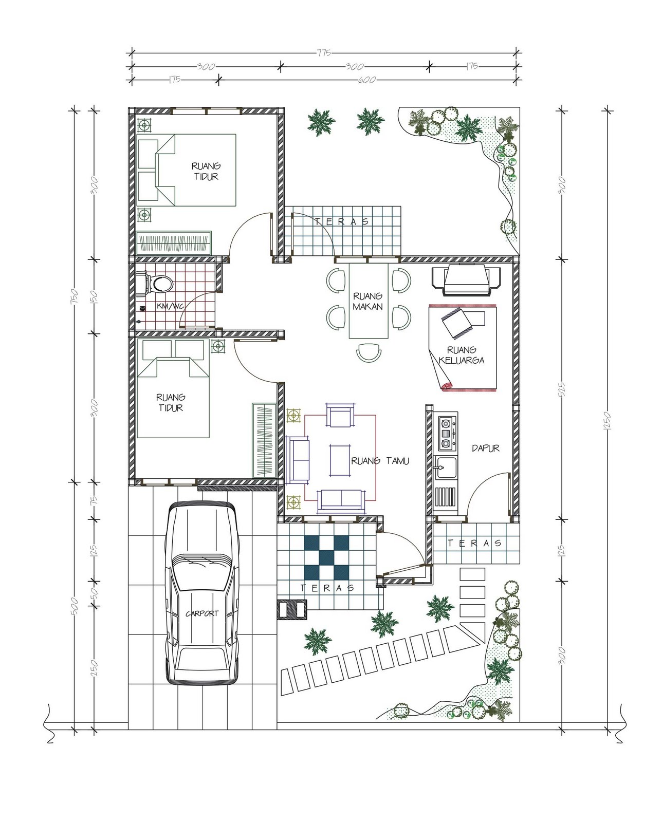 Pola Desain Arsitektur: 3d-inspirasi: Rumah Type 48