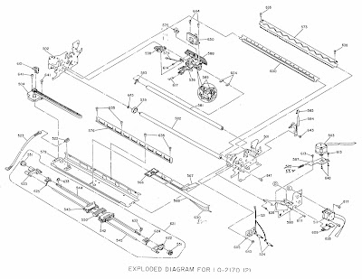 Exploded Diagram For Epson LQ 1170 Dot Matrix Printer