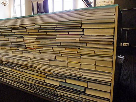 Cool Recycled Book Library Desk