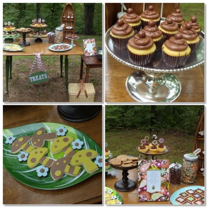 Camping Wedding Ideas: Camping Wedding Theme - Dessert Buffet Idea