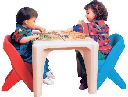 Toddler One Two Three: Preloved Step 2 Table and Chairs Set