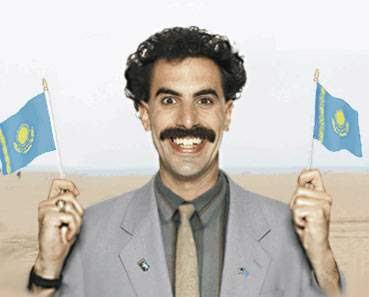 Borat with flags