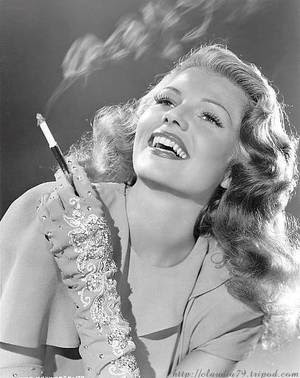 Rita Hayworth - Smoking Cigarette