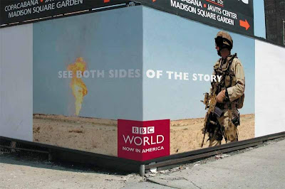 BBC AD Campaign - Soldier next to Oil Well