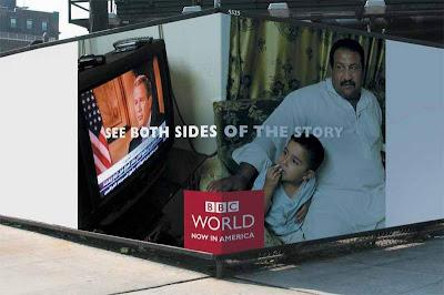 BBC AD Campaign- Arab watching Bush on BBC