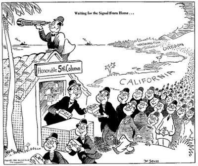 Dr.Seuss racist cartoon on Japanese Americans