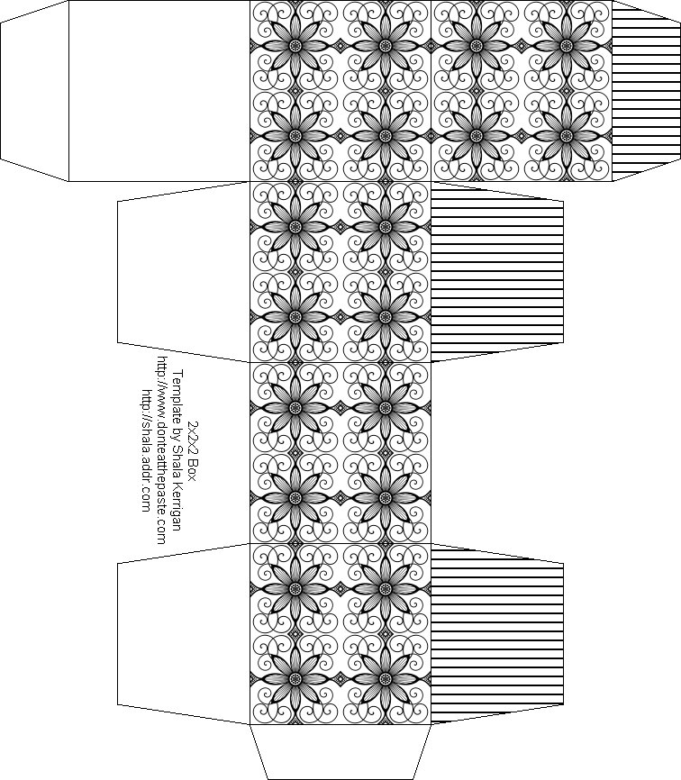 Moldes para cajas de regalo ~ Portal de Manualidades