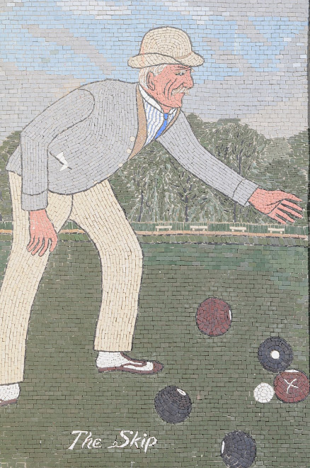 Mosaic at the Lawn Bowling Club of Oakland, California