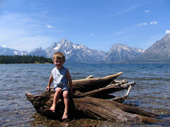 Corbyn at Jackson Lake, Yellowstone