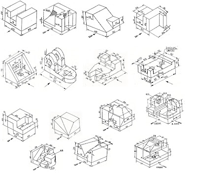 Engineering Educational Info: Isometric to Orthographic views