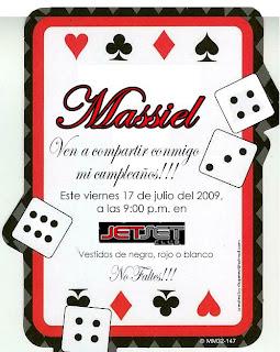 invitaciones tipo casino para imprimir