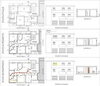 Ilfotocane progetto di divisione di appartamento per for Piante di case