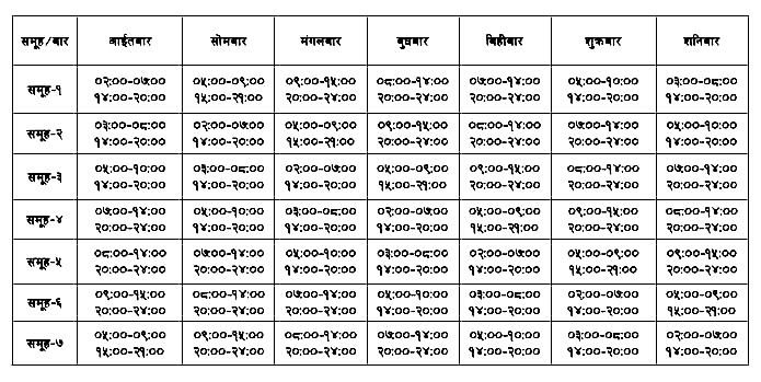 Loadshedding Schedule: PHOTOS OF NEPAL: Latest Load Shedding Schedule Effective