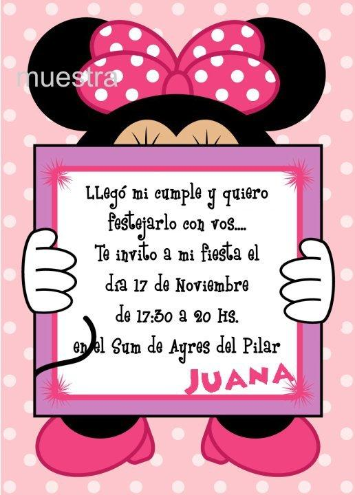 Tarjetas De Cumpleaños De Minnie Mouse Para Imprimir Imagui
