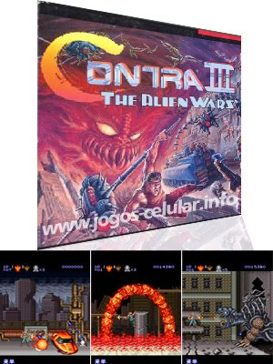 Contra 3 game 128x160 mobile