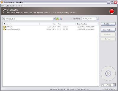 BurnAware Free Edition Creating Data Discs