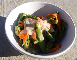 asparagus Asparagus and sesame salad