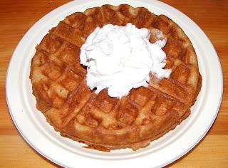 belgian+waffle Belgian waffles with whipped cream