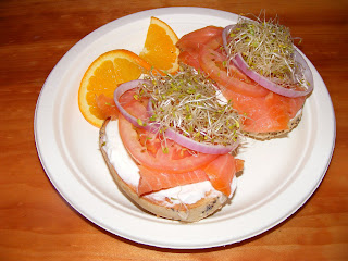 Salmon bagel from Mate