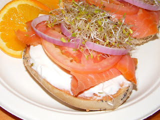 bagel Salmon bagel from Mate