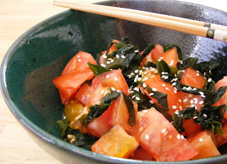 blog1 Tomatoes!   tomato and seaweed salad