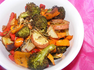 Rosemary Roasted Vegetables and WHB