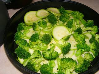Zucchini Broccoli Cheddar Quiche