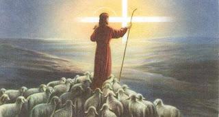 Jeesus paimentaa lampaita