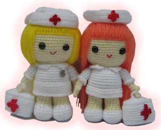 Nurse Amigurumi Crochet Pattern