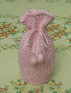 gift bag free crochet pattern
