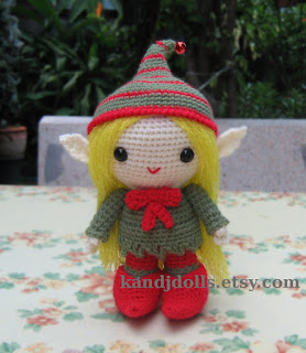 Amigurumi pattern for Christmas Elf