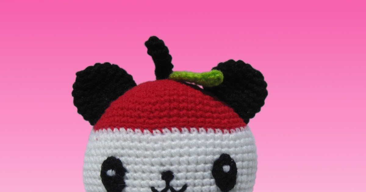 Amigurumi Maneki Neko Free Pattern : Pandapple and Imomushi Pattern - Sayjai Amigurumi Crochet ...