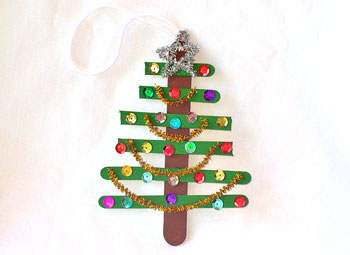 popsicle stick Christmas tree craft, Christmas crafts, kids crafts