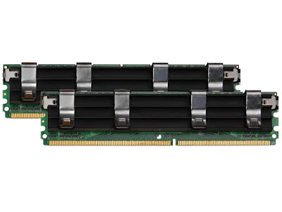 Corsair 4GB DDR2-800 memory kit for Mac Pro black heatspreader