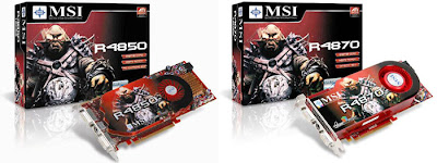 MSI ATI Radeon HD 4850 si 4870 red  video card