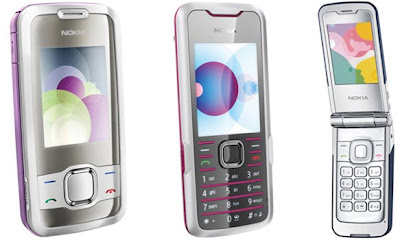Nokia fashion Supernova series - 7210, 7310, 7510, 7610 mobile phones